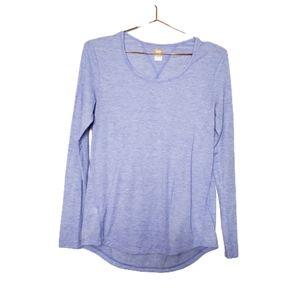 Lucy Tech Womens Purple Long Sleeve Tee Top